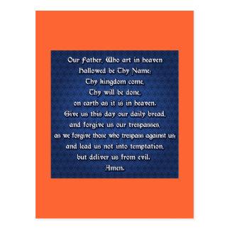 Nuestro padre Prayer del señor Postales