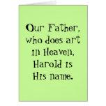 Nuestro padre - tarjeta del arte
