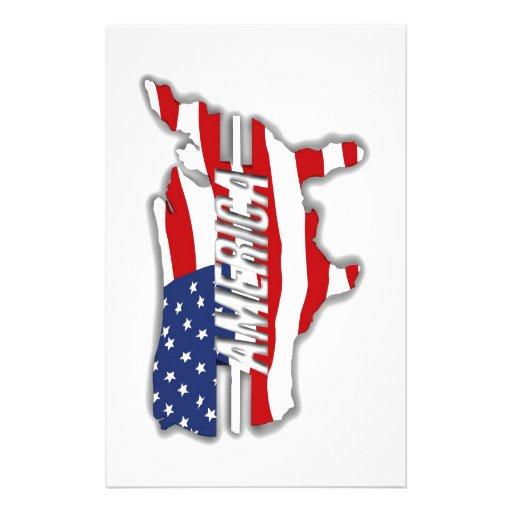 Nuestro país del rojo, del blanco y del azul papelería