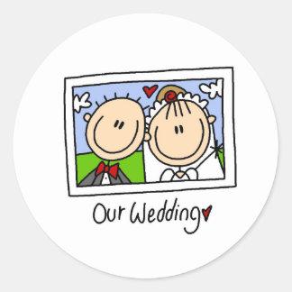 Nuestro pegatina del boda