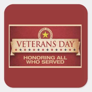 Nuestro pegatina del día de veteranos de las