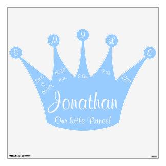 Nuestro pequeño príncipe Blue Crown Birth Stats