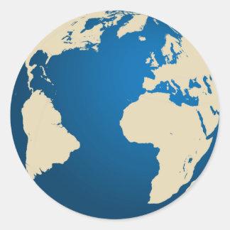 Nuestro planeta etiquetas redondas