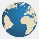 Nuestro planeta pegatina redonda