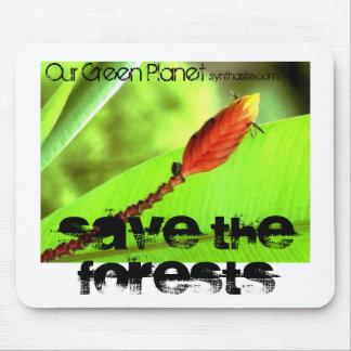 Nuestro planeta verde. Ahorre el cojín de ratón de Mousepads