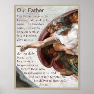 Nuestro poster del rezo del padre