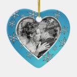 Nuestro primer amor del navidad ornamento de reyes magos