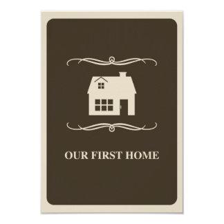 """nuestro primer casero (hogar de la MOD) Invitación 3.5"""" X 5"""""""