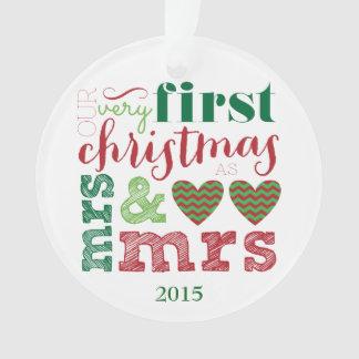 Nuestro primer navidad como señora y señora