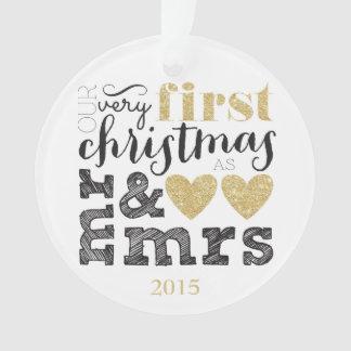 Nuestro primer navidad como Sr. y señora Gold