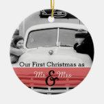 Nuestro primer navidad como Sr. y señora Holiday O Ornamentos De Navidad