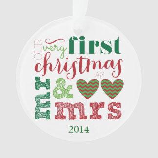 Nuestro primer navidad como Sr. y señora Ornament