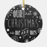 Nuestro primer navidad como Sr. y señora Ornament Ornatos