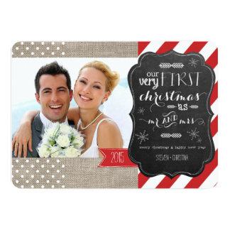 """Nuestro primer navidad como Sr. y señora Photo Invitación 5"""" X 7"""""""