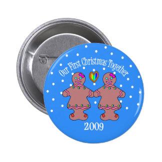 Nuestro primer navidad juntas 2009 mujeres de GLB Pins