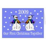 Nuestro primer navidad junto 2009 (GLBT Snowwomen) Felicitación