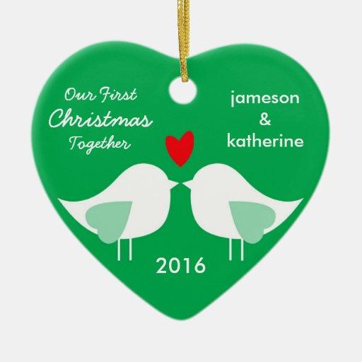 Nuestro primer navidad junto ama el ornamento de adornos