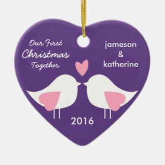 Nuestro primer navidad junto ama el ornamento de l adornos de navidad