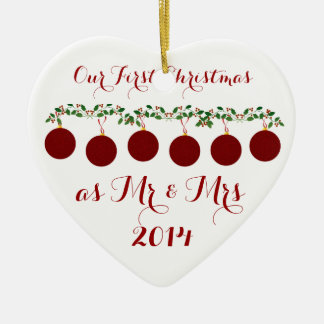 Nuestro primer navidad junto ornamento para arbol de navidad