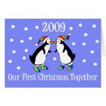 Nuestro primer navidad juntos 2009 (pingüinos de G Felicitacion