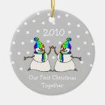 Nuestro primer navidad juntos 2010 (muñecos de ornamento para arbol de navidad
