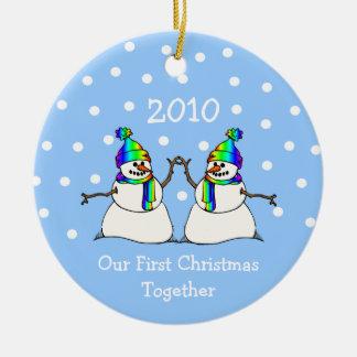 Nuestro primer navidad juntos 2010 (muñecos de nie adorno