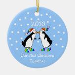 Nuestro primer navidad juntos 2010 (pingüinos de G Ornamentos Para Reyes Magos
