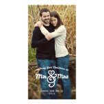 Nuestro primer navidad Sr. y señora Holiday Photo  Tarjeta Con Foto Personalizada