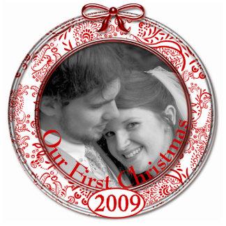 Nuestro primer ornamento 2009 del navidad adorno fotoescultura