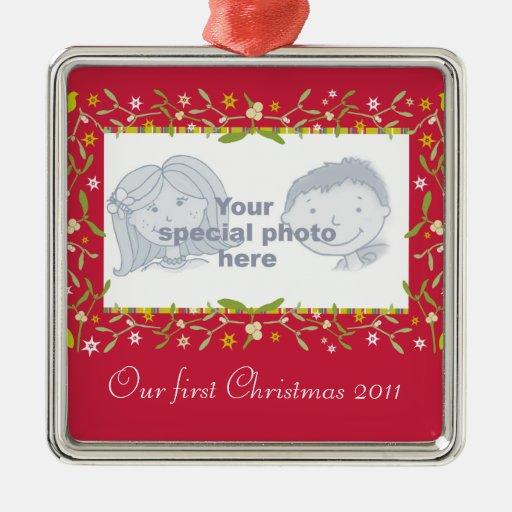 Nuestro primer ornamento 2011 de la foto del ornamento para arbol de navidad