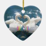 Nuestro primer ornamento 2012 de Hankkah Adorno Navideño De Cerámica En Forma De Corazón