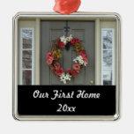 Nuestro primer ornamento casero de la foto de la ornamento para arbol de navidad