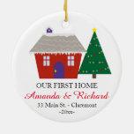 Nuestro primer ornamento casero del navidad - casa adorno