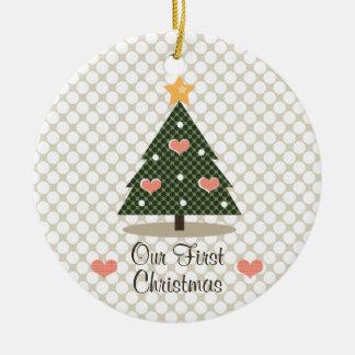 Nuestro primer ornamento del árbol de navidad adornos de navidad