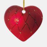 Nuestro primer ornamento del corazón del navidad ornamento para arbol de navidad