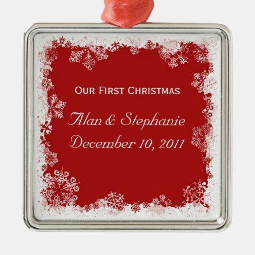 Nuestro primer ornamento del día de fiesta del nav ornamento de navidad
