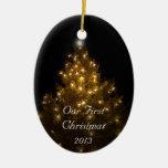 Nuestro primer ornamento del navidad ornamento para arbol de navidad