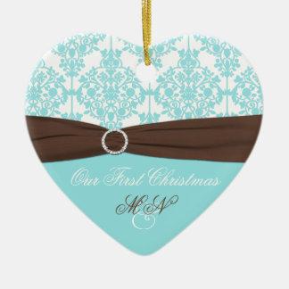 Nuestro primer ornamento del recuerdo del navidad ornamentos de navidad
