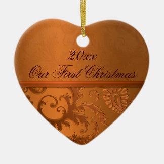 Nuestro primer ornamento del recuerdo del navidad ornamento para reyes magos