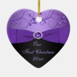 Nuestro primer ornamento del recuerdo del navidad adorno