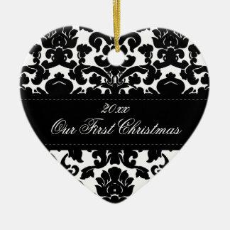 Nuestro primer ornamento del recuerdo del navidad adorno de reyes
