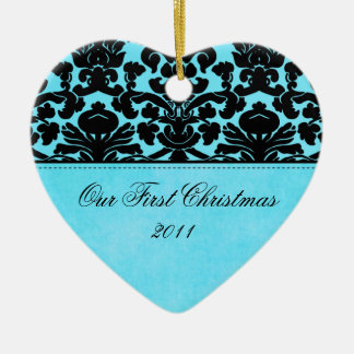 Nuestro primer ornamento del recuerdo del navidad ornamentos de reyes