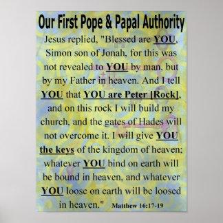 Nuestro primer papa y poster papal de la autoridad