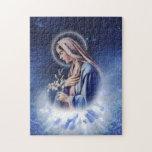 Nuestro rompecabezas santo del azul de Maria