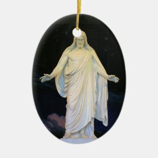 Nuestro señor Jesucristo Christus Consolator Adorno Ovalado De Cerámica