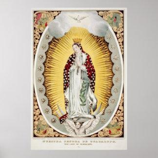Nuestro Señora-de Guadalupe, impresiones del poste