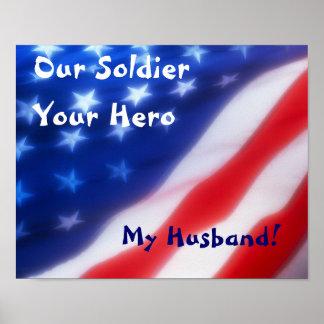Nuestro soldado, su héroe, mi poster del marido