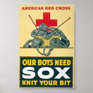 Nuestro sox de la necesidad de los muchachos - hag posters