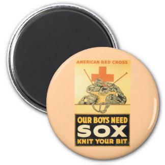 Nuestro Sox de la necesidad de los muchachos Imán Redondo 5 Cm