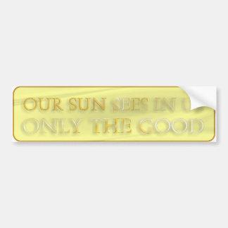 Nuestro Sun considera en nosotros solamente el bue Pegatina Para Auto